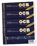 OCB 5 folletos Ultimate Slim Más Fino Rolling Paper King Size + Consejos para EL Filtro