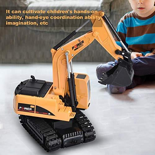 RC Auto kaufen Baufahrzeug Bild 3: Dilwe Fernbedienung Bagger, 6 Kanäle Bagger LKW 1/24 RC Engineering Baufahrzeug Spielzeug Geschenk für Kinder ( Kunststoff)*