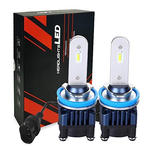 DOOK 2Pcs Bombilla LED Coche con Resistente al Agua, 30W 3500LM Luces LED para Reemplazo del Bombilla del Faro para Coche, 9-18V 6000K Blanco Frío