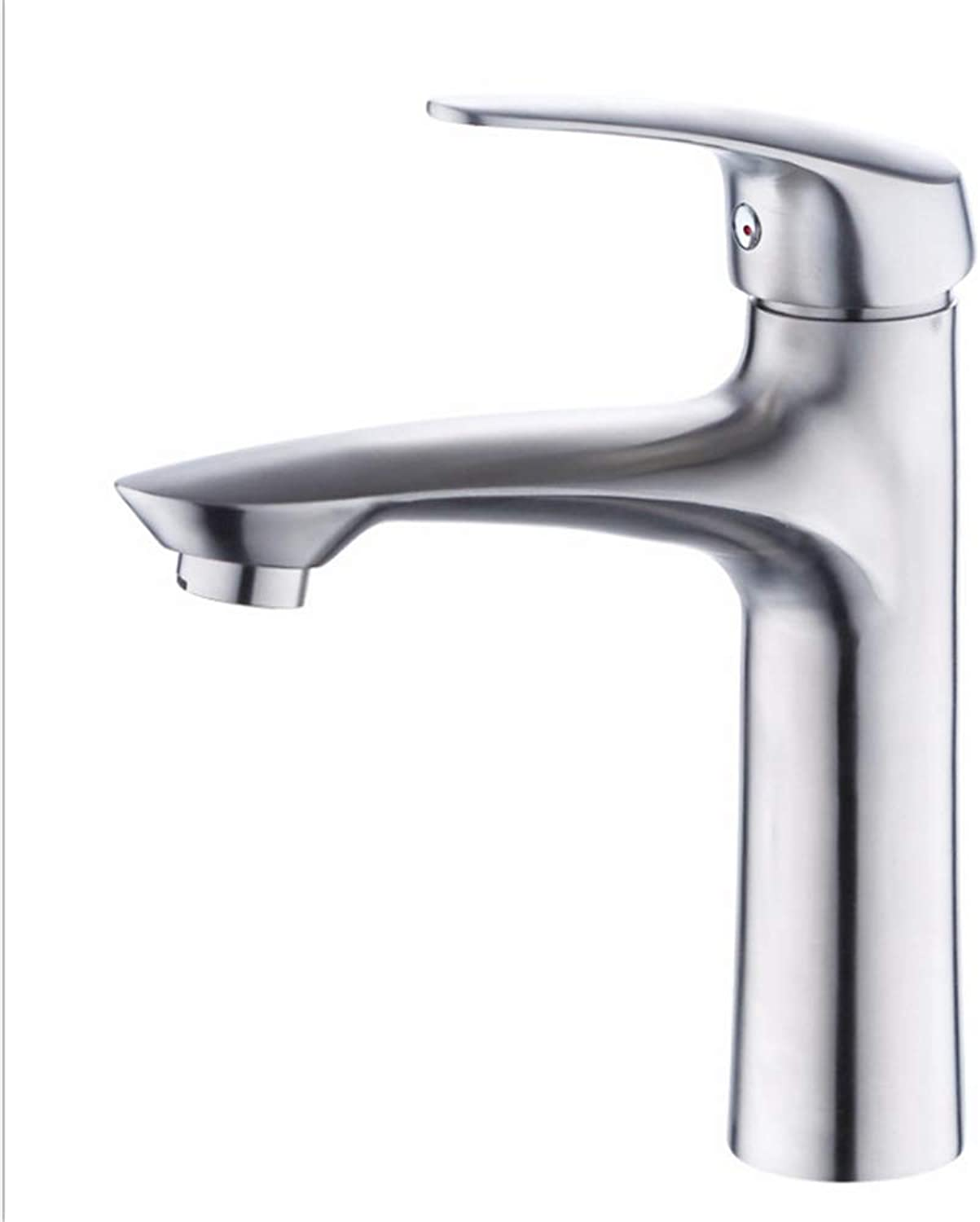 Counter Drinking Designer Archsingle Hole 304 Stainless Steel Face Basin Cold and Hot Water Faucet Mixing Valve