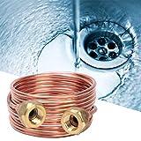 Filfeel wosume tubo capilar de cobre flexible blando, piezas de refrigeración g1/4'de 2. 8 mm para la instalación y mantenimiento del refrigerador y aire acondicionado central(2000mm)