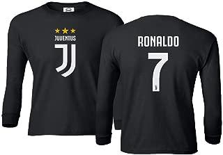 Soccer Shirt #7 Cristiano Ronaldo CR7 Boys Girls Youth Long Sleeve T-Shirt