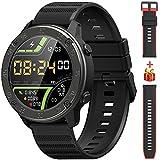 IOWODO Smartwatch, 1,3'' Touch Schermo Orologio Fitness Uomo Donna con 2 Cinturino in Sili...