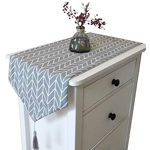 OSISTER7 - Camino de mesa en lino de algodón, diseño moderno, decoración para hogares, comedores o fiestas 🔥