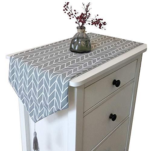 OSISTER7 Camino de mesa, moderno camino de mesa de algodón y lino, tapete clásico para el hogar, comedor, fiesta, decoración de vacaciones