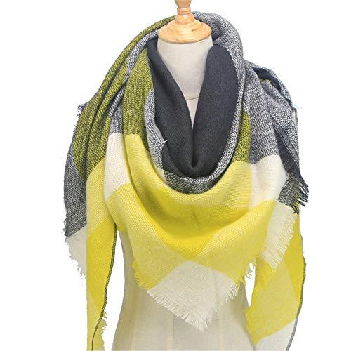 ddmlj Herbst Winter Frauen Schal Plaid Warme Luxus Kaschmir Schals Schals Und Wraps Dreieck Handtuch@24