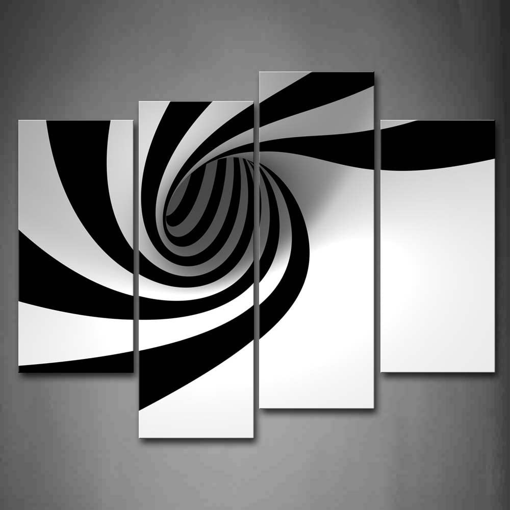 Amazon Com Black And White Grey Hole Wall Art Painting The Picture Print On Canvas Abstract Pictures For Home Decor Decoration Gift Posters Prints