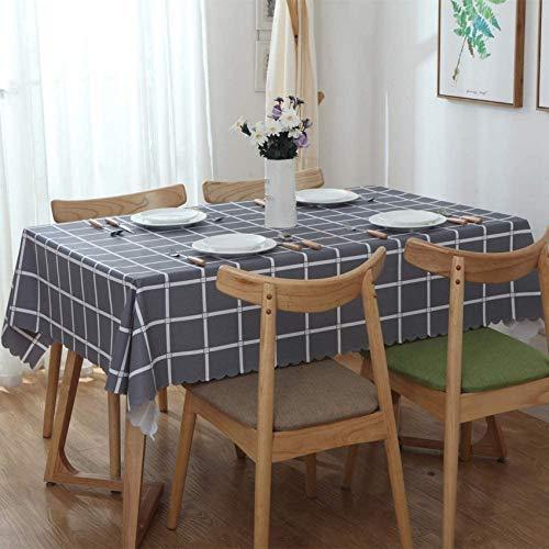 Tischdecken Wischen Sie die Tischdecke ab. Karierte rechteckige Tischdecke Wasserdicht und ölbeständig Tischdecke Hitze- und Feuchtigkeitsbeständigkeit Mehrzweck-Innen- und Außenbereich (gra