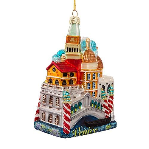Kurt S. Adler Kurt Adler 5-Inch Venice Cityscape Glass Ornament