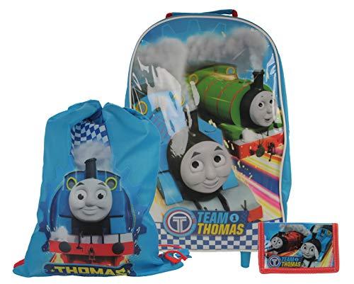 Team Thomas The Tank Engine 3pc Children's Luggage Set Wheeled Bag