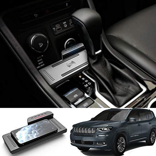 AWYLL Cargador de Coche inalámbrico para Jeep Grand Commander 2018 2019 2020 2021, Cargador de teléfono de Carga rápida de 15 W para iPhone 12 Pro MAX Mini 11 / XS MAX/XR / 8, Galaxy S20 / S10