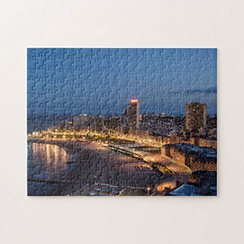 Mar Del Plata al crepuscolo, Buenos Aires, Argentina Jigsaw Puzzle 1000 Pezzi, Giocattoli di puzzle stimolanti ed educativi per bambini Adulti