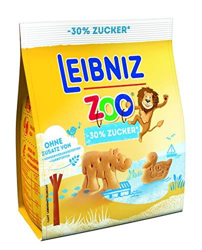 Leibniz Zoo -30% Zucker Original Butterkeks mit weniger Zucker – Keks für die ganze Familie - zu Hause & unterwegs – Belohnung zwischendurch, 125 g