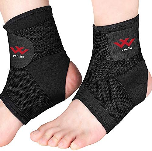 Ankle Brace 2PCS Breathable Strong Ankle Brace for Sprained Ankle Stabilize Ligaments Prevent product image