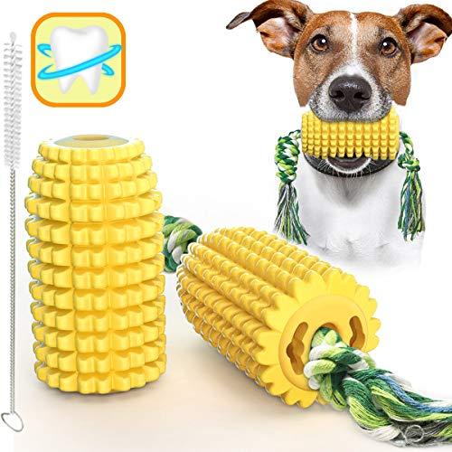 Rmolitty Giochi per Cani, Masticare Giocattoli per Cuccioli, Giocattoli per la Corda per la Pulizia della Dentizione del Mais per Piccoli Medio Grande Cani (Mais)