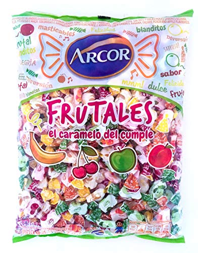 FRUTALES Arcor - Chewable Candies Banana, Cherry, Peach and Apple Flavoured - 800 gs - 242 units ( 1Lb 12.02oz )