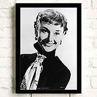 オードリー・ヘプバーン ポスター Audrey Hepburn (16) A3 42cm x 30cm フレーム ブラック
