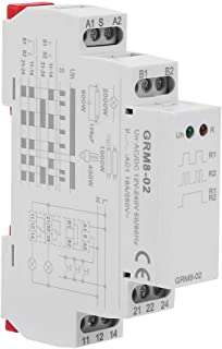 GRM8-02 Electronic Impulse Relay AC/DC 12-240V Latching Relay Memory Relay with LED Indicators, 35mm DIN Rail Mount