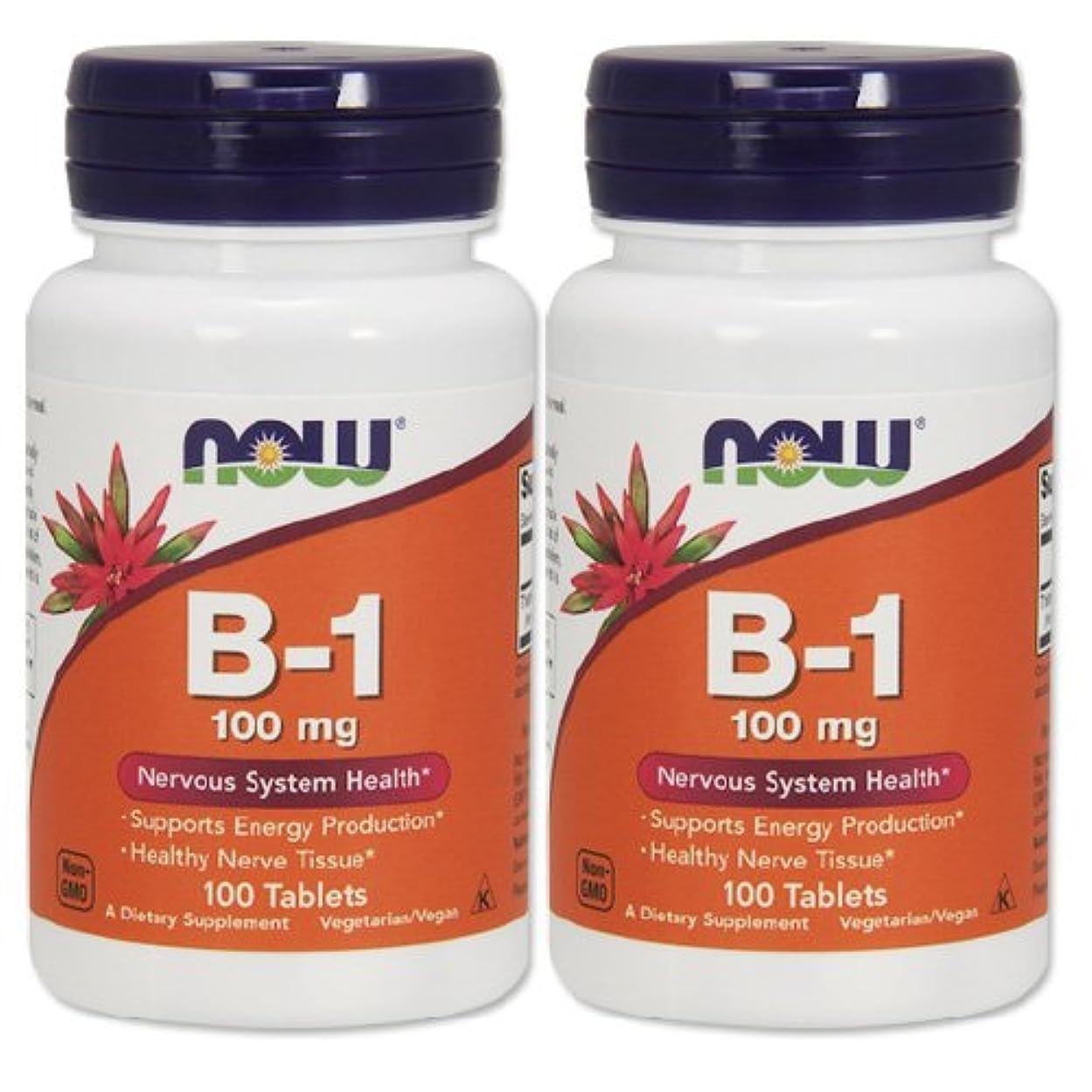 交流するバスタブ炭水化物2本セット 海外直送品 Now Foods B-1, 100 Tabs 100 mg