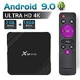 TV Box Android 9.0 2 GB RAM 16 GB ROM RK3318 Quad-Core Cortex-A53 CPU-Unterstützung 3D 4K H.265-Ausgang 2,4 Ghz WiFi USB 3.0 Smart Media Player, Set-Top-Box