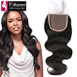 V-Beyonce 4x4 Lace Closure Free Part With Baby Hair Brazilian Virgin Hair Body Wave Closure 10'