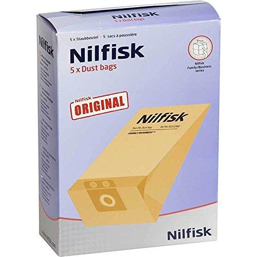 Familia de auténtica Nilfisk Vac Series Filtro de aspiradora bolsas Dual (5unidades)