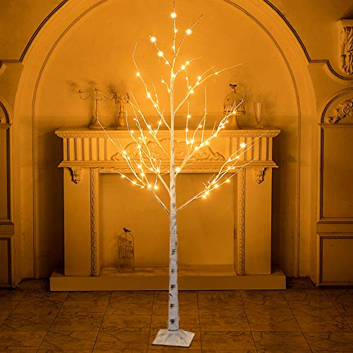 PABIPABI Lighted Birch Twig Tree with Fairy Lights 6FT 88LED Warm White Christmas Tree for Indoor Outdoor Home Decoration for Thanksgiving Decor Home Wedding Party Christmas Decoration