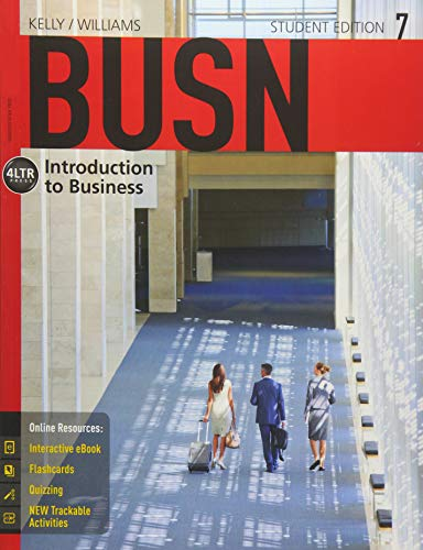 Kelly, M:  BUSN (with CourseMate, 1 term (6 months) Printed (New, Engaging Titles from 4ltr Press)