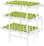 VIVOSUN Hydroponic Grow Kit, 3 Layers 108 Plant Sites 12 PVC Pipes...