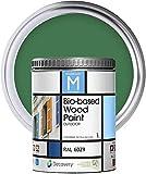 Pintura Para Madera Exterior   Color Verde   1 Litro   RAL 6029   Pintura Para Madera   Pintura Ecológica Para Todo Tipo De Madera   Pintura Madera Exterior Con Un Aspecto De Acabado Semi Mate