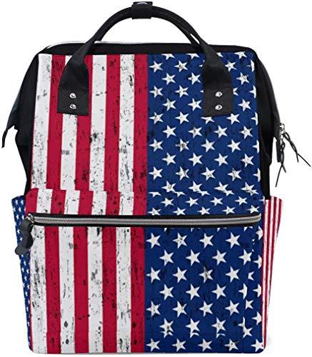 Amerikaanse vlag sterren strepen luier zakken grote reis luier verpleegkundige rugzak mama tas