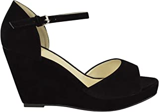 Fashion Thirsty Womens Peep Toe Wedges Low Mid High Heel Platform Summer Ankle Strap Strappy Shoes