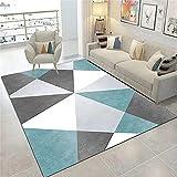 Paillassons Pour Entrée Decoration Chambre Ado Fille Pas Cher Triangle gris et bleu Triangle Tapis géométriques sont utilisés pour les tapis de pile courts dans le salon, la chambre et la cuisine. 100