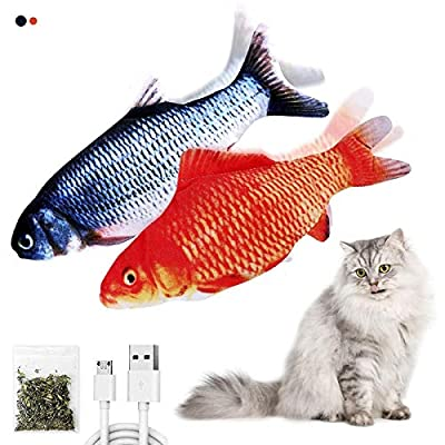 Amazon - 50% Off on Floppy Fish cat Toy, Flopping Fish Wiggles Like a Real Fish, USB Rechargeable