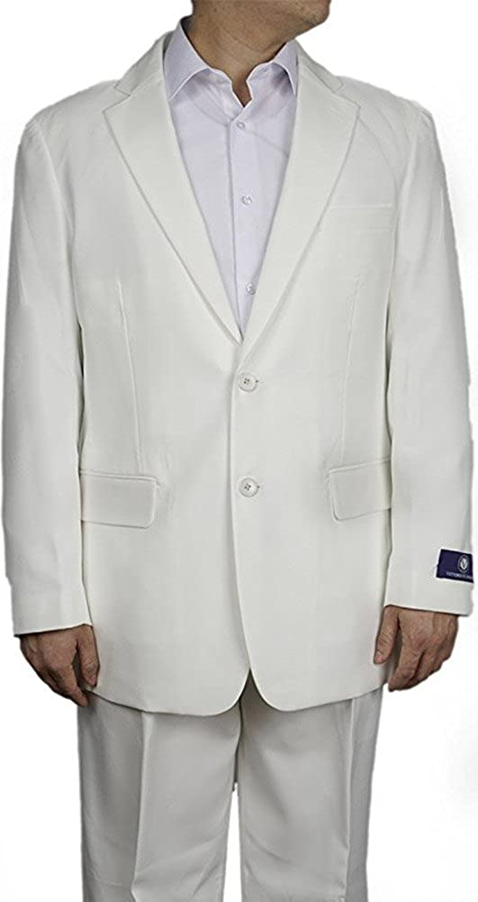New Men's 2 Button Superior Cream Dress and Includes Suit Jacket Luxury - Pants