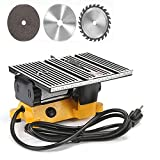 4' Mini Portable Table Saw, Mini Hobby Table Saw, Small Cutting Machine, Portable Worksite Table Saw for DIY Handmade Wooden Model Crafts, Metal, Ceramic Tile, Glass Cutting not cut steel and iron