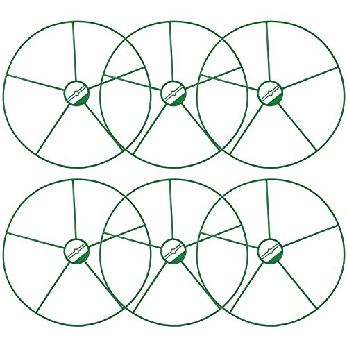 com-four® 6x runde Blumen- und Staudenhalter, für Blumen, Rankengewächse und Stauden (06 Stück - Ø 39cm)