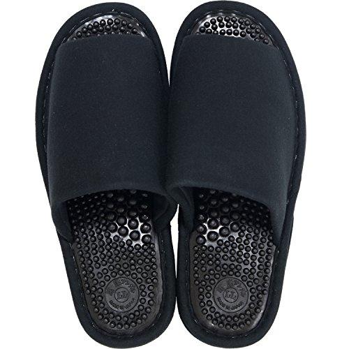 オカ 洗える 健康スリッパ ユニセックス LLサイズ 足のサイズ約25.5cm〜26.5cm ブラック