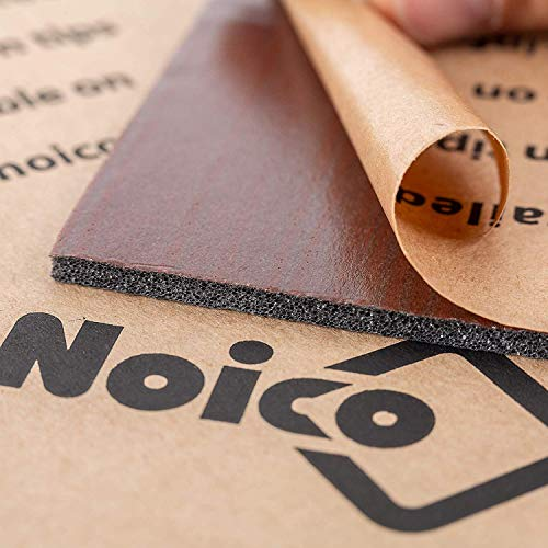 Noico RED 150 mil 36 sqft Сar Sound Insulation, Heat and Cool Liner, Self-Adhesive Closed Cell Deadening Material (PE Foam Sound Deadener)