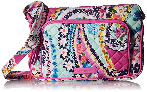 Vera Bradley Signature Cotton Little Hipster Crossbody Purse with RFID Protection, Wildflower Paisley