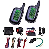 CarBest Vehicle Security Paging Car Alarm 2 Way LCD Sensor Remote Engine Start