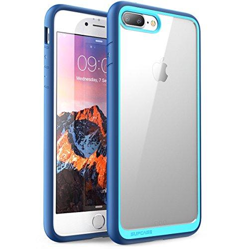 Custodia iPhone 8 Plus iPhone 7 Plus, Supcase - Cover AntiUrto [Shock Absorbing] Angoli Rinforzati - Pannello Posteriore Trasparente - Bumper (Nero)