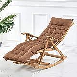 GLLSZ Bambú Reclinable Tumbona para Terraza Al Aire Libre Interior Sillón Tumbona Reclinable Plegables Tumbona Ajustable Tumbona C