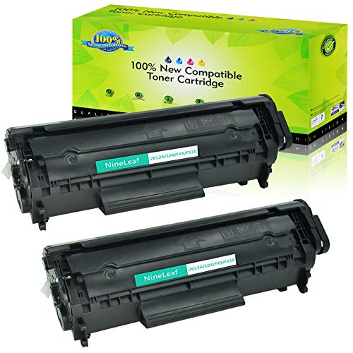 NineLeaf Compatible Toner Cartridges Replacement for HP 12A Q2612A High Yield, 2 Black, Use with Laserjet 1020 1012 1022 1010 1018 1022n 3015 3030 3050 3052 3055 M1319F Printer