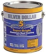 Silver Dollar 6221-ga Super-bright Aluminum Roof Coating, 1 Gallon (Pack of 6)