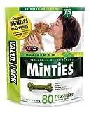 VetIQ Minties Dog Dental Bone Treats, Dental Chews for Dogs, (Perfect for Tiny / Small Dogs under 40 lbs), 80 treats (bag)