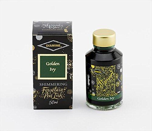 Diamine - Schimmernde Füllhalter-Tinte, Golden Ivy 50ml