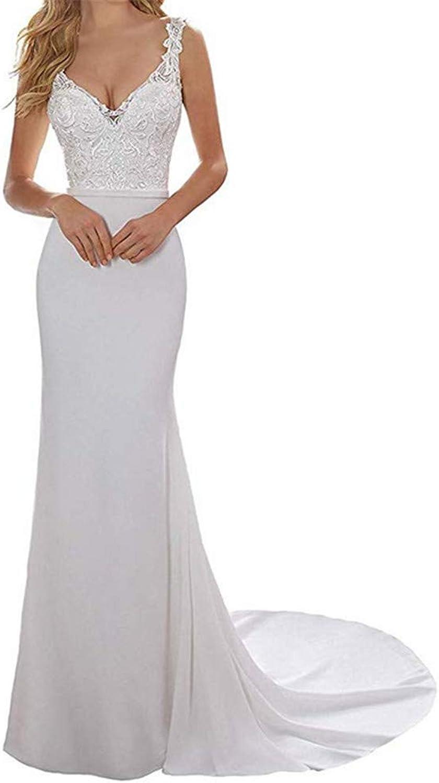 Wedding Dress, Europe and America Elegant Women 2019 Lace Satin Wedding Dress Mermaid