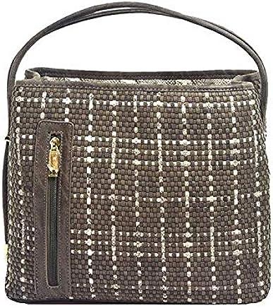 9cf604e0580b7  Coco  Designer Rustic Brown Snakeskin Woven Tote Handbag by Samoe Style.
