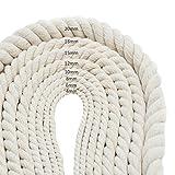 Corda in cotone da 50metri fatta a mano, diametro 4mm, per progetti fai da te, lavori a maglia, decorazione casa e pareti, gioielli, piante da muro, 6mm/50m